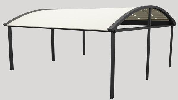 awning sliding door 3D model