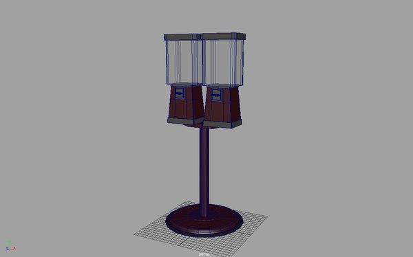 3D bubble gum machine model