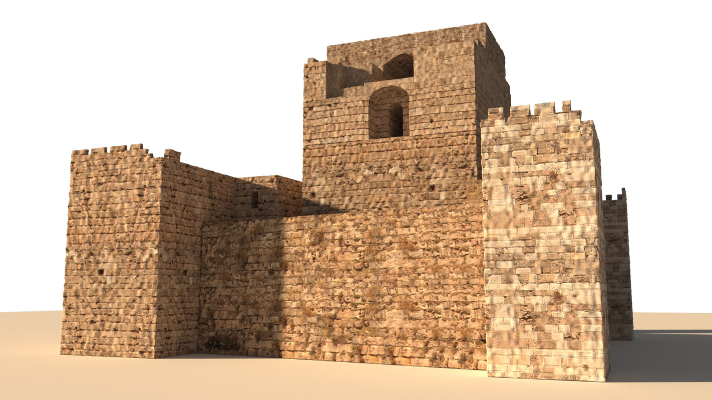 3D model castle byblos