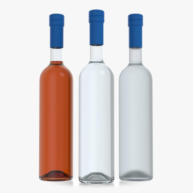 alcohol bottle 3D