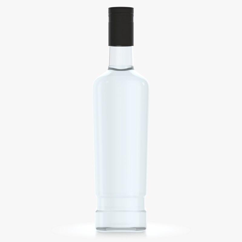 3D model alcohol bottle
