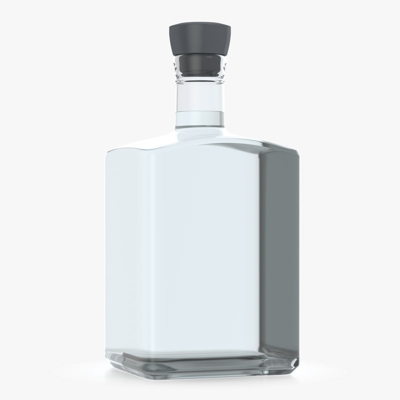 alcohol bottle 3D model
