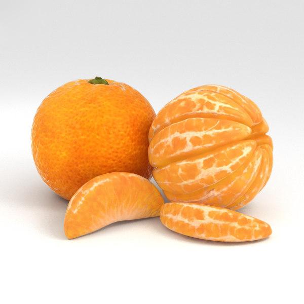 3D mandarin orange