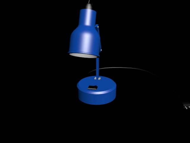 3D table light model