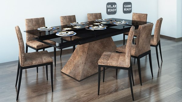 dining table games 3D model