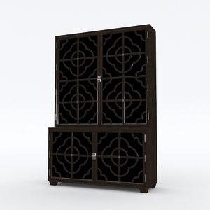 3D julian chichester tall cabinet