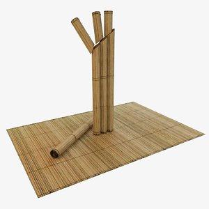mat bamboo 3D model