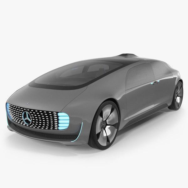 3D autonomous concept car mercedes benz