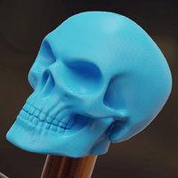 3D skull valve cap schrader
