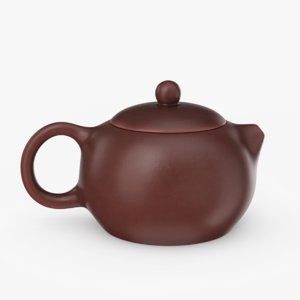 3D yixing clay teapot model