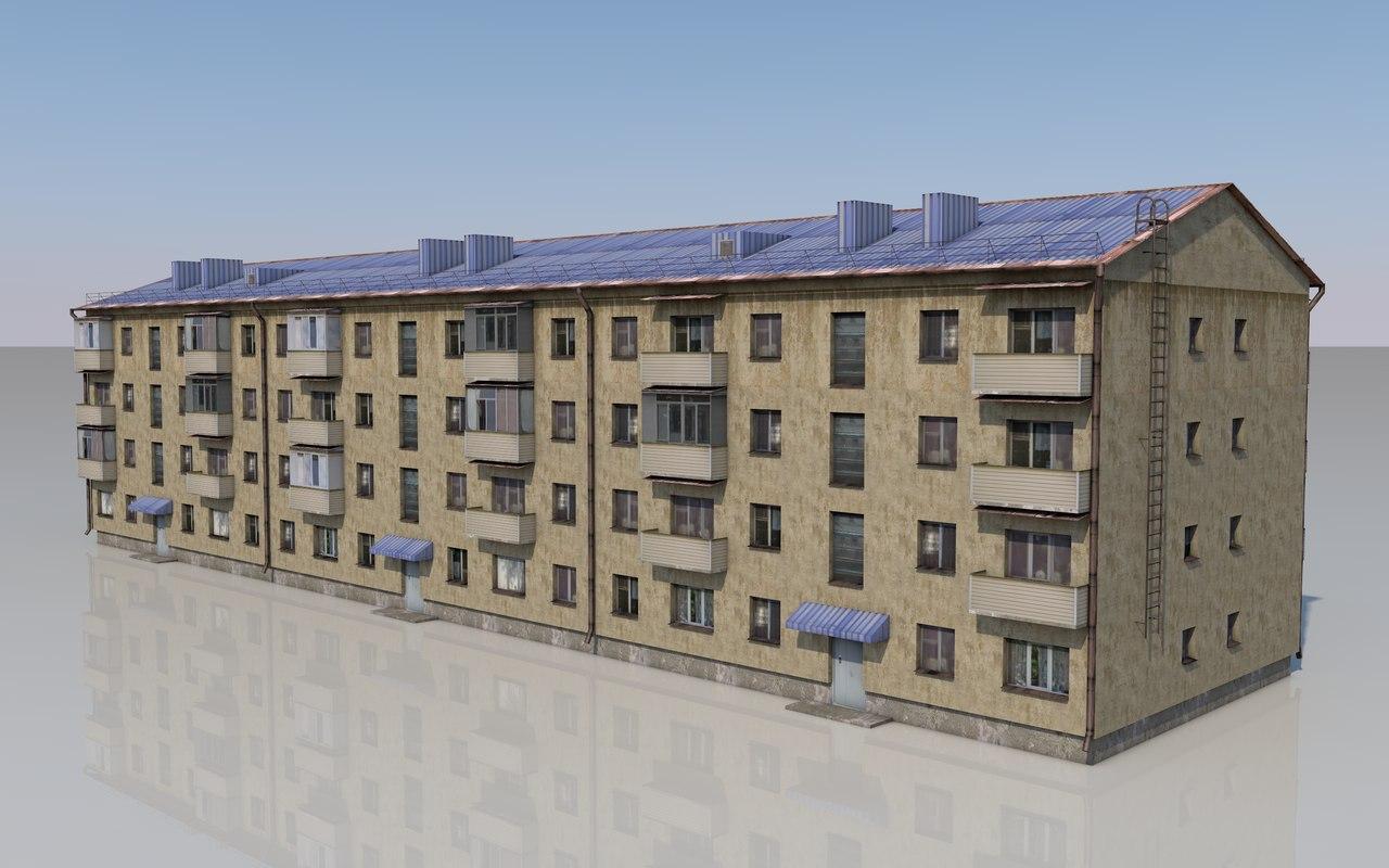 multi-storey house 3D model