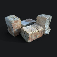 scan old red brick 3D model