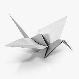origami crane 3D