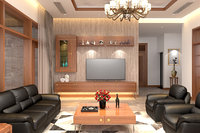 3D model apartment-livingroom celling-light