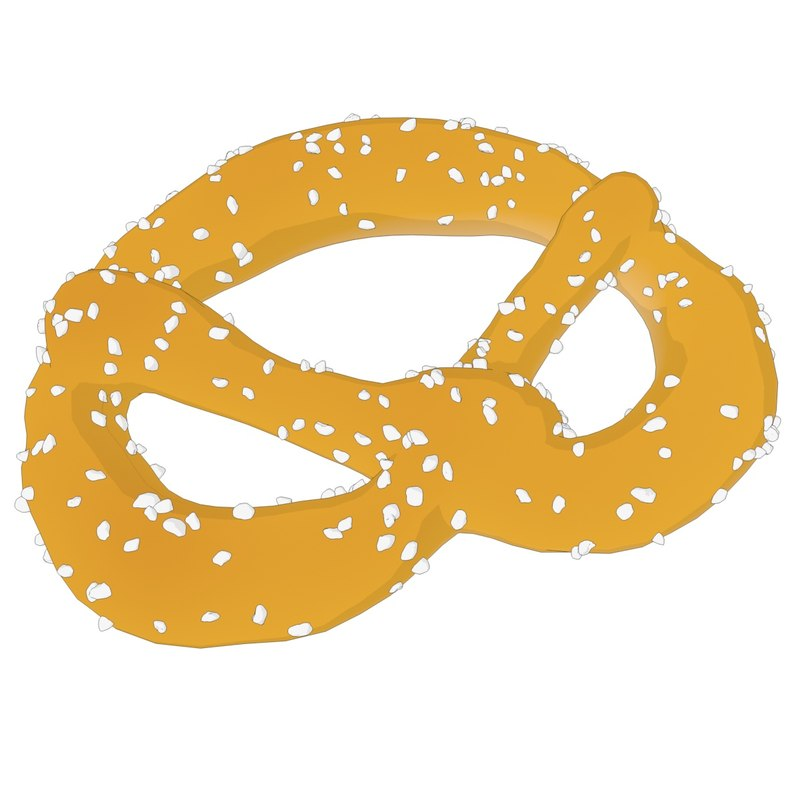 rendered pretzel 3D
