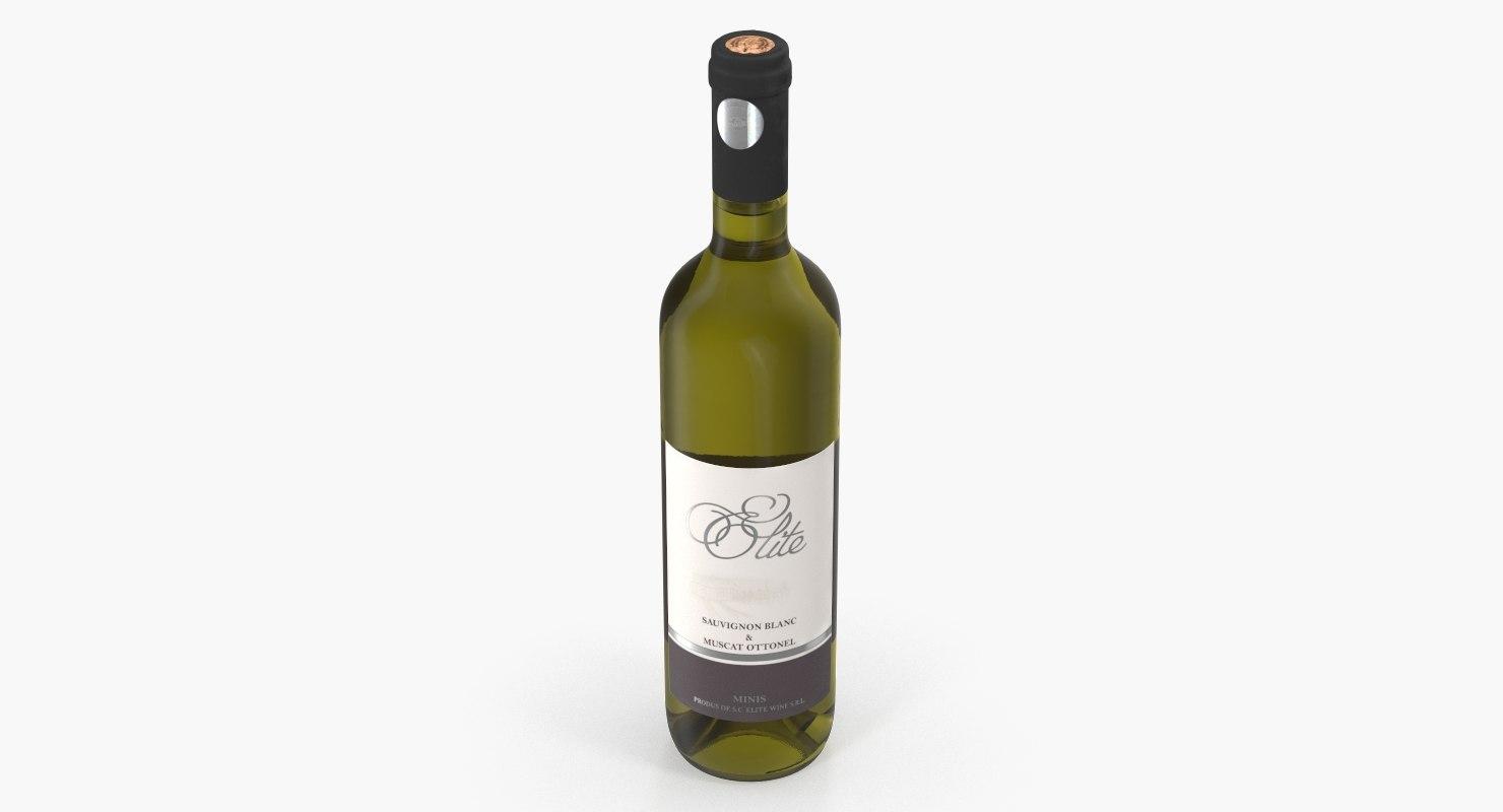 white wine bottle 3D model