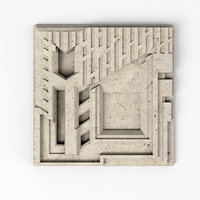 3D freeman house tile frank