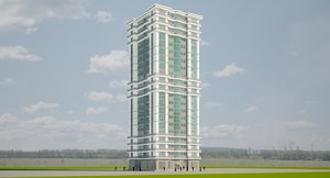 3D 20 floor building