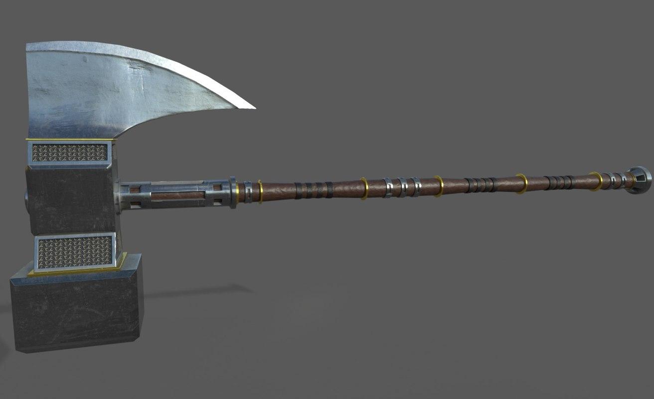3D model axe hammer