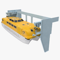 rescue lifeboat 3D model