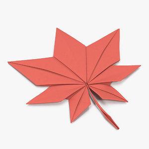 origami maple leaf 3D