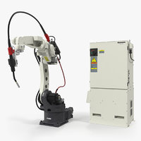 Panasonic TM1400 Welding Robot with Power Supply Rigged 3D Model