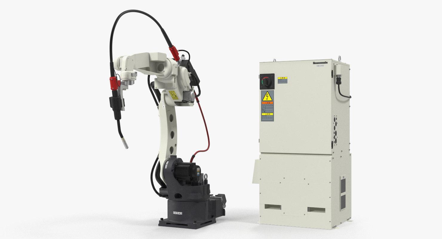 3D panasonic tm1400 welding robot model