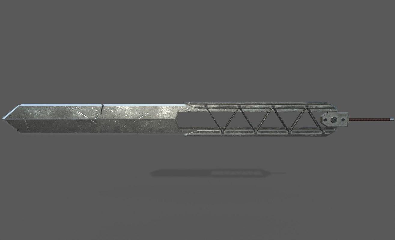 3D claymore sword weapons
