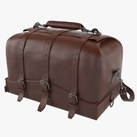 3D saddleback leather waterbag designer model