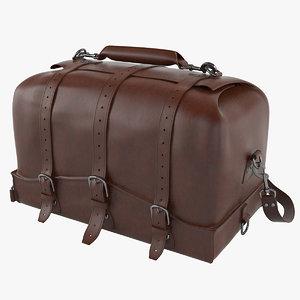 3D saddleback leather waterbag designer model