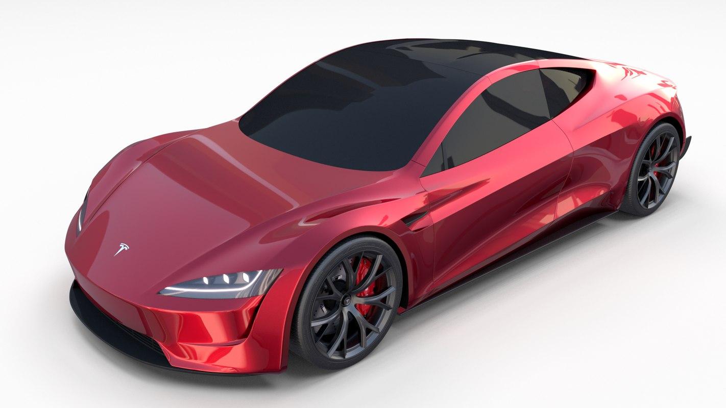 3D tesla roadster 2020