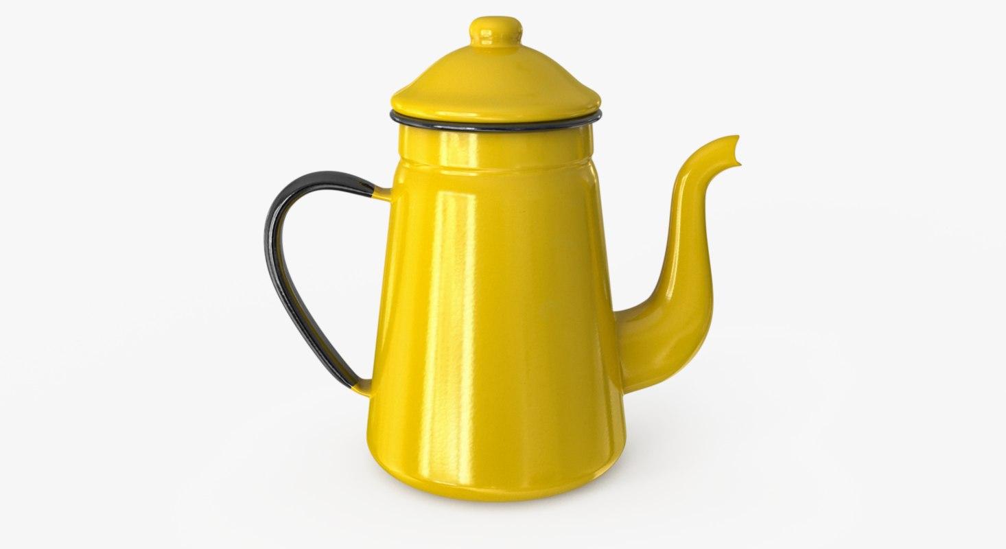 enamel teapot 3D model