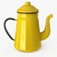 enamel teapot 3D model