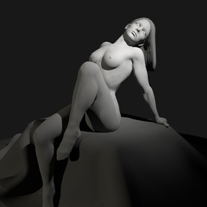 nude female art 3D model