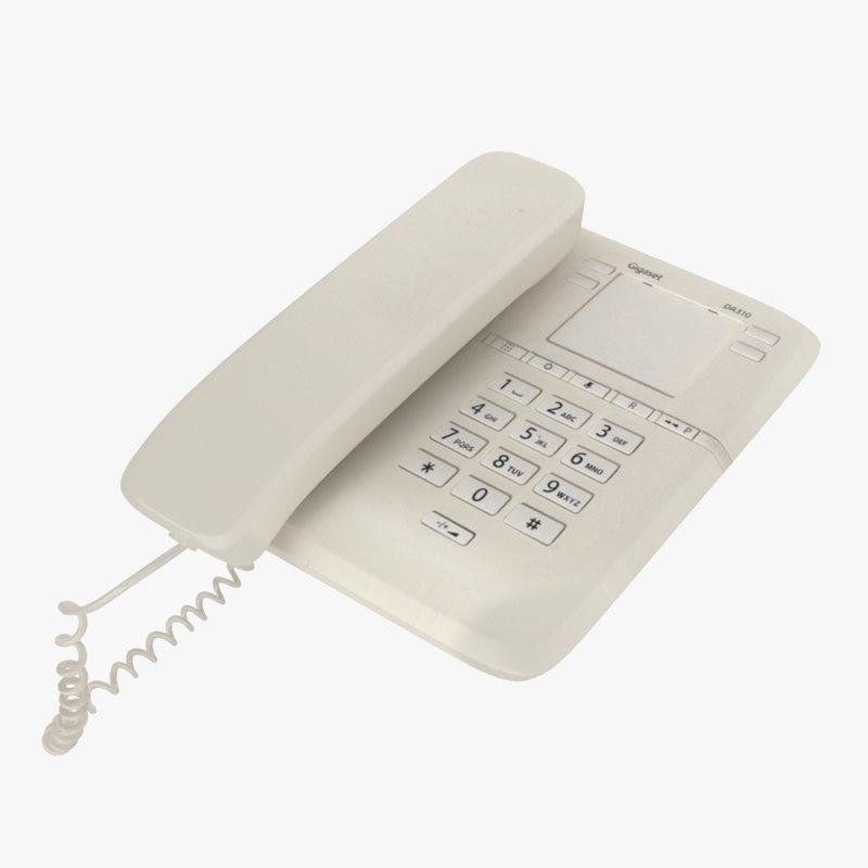 3D office telephone model