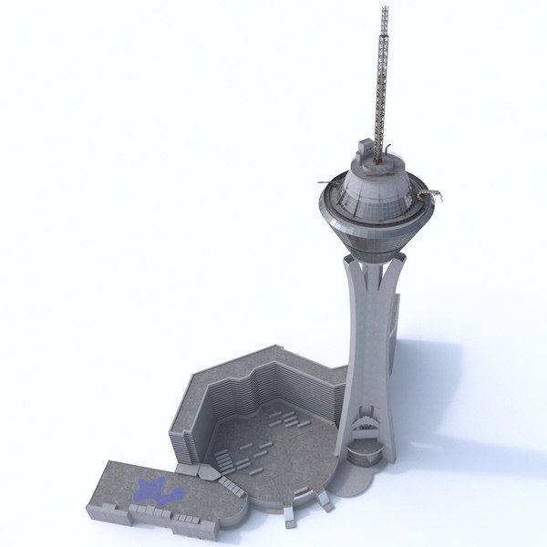 3D model stratosphere tower