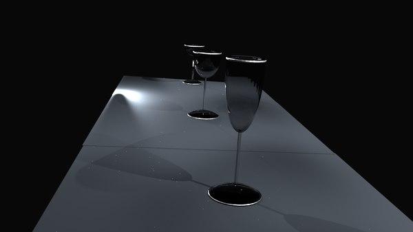 wine glasses model