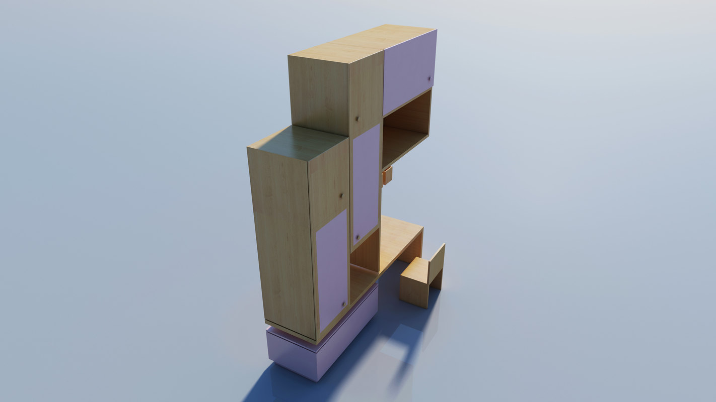 child wardrobe 3D model