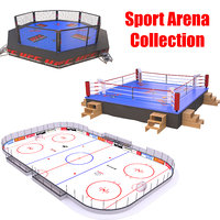 sport arena boxing ring model