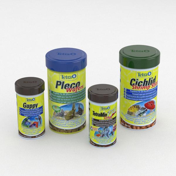 3D model fish food