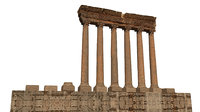 3D temple jupiter baalbek model