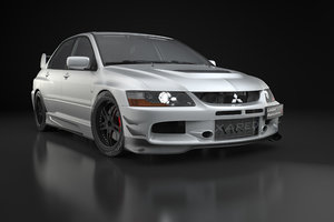 car mitsubishi lancer evolution 9 3D model
