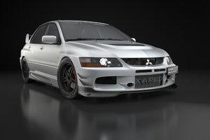 car mitsubishi lancer evolution 9 3D model