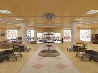 Hotel hall lobby
