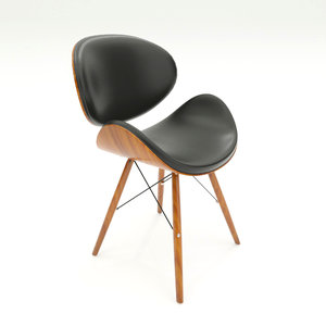 3D cassie mid-century dining chair model