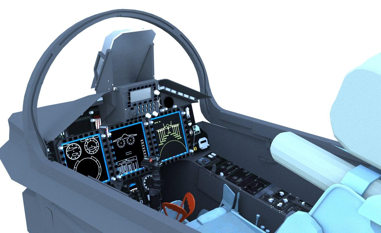 mig-29k cockpit 3D model