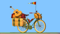 bike isometric tourist 3D