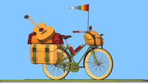 bike isometric tourist 3D