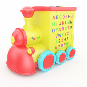 3D model toy train musical