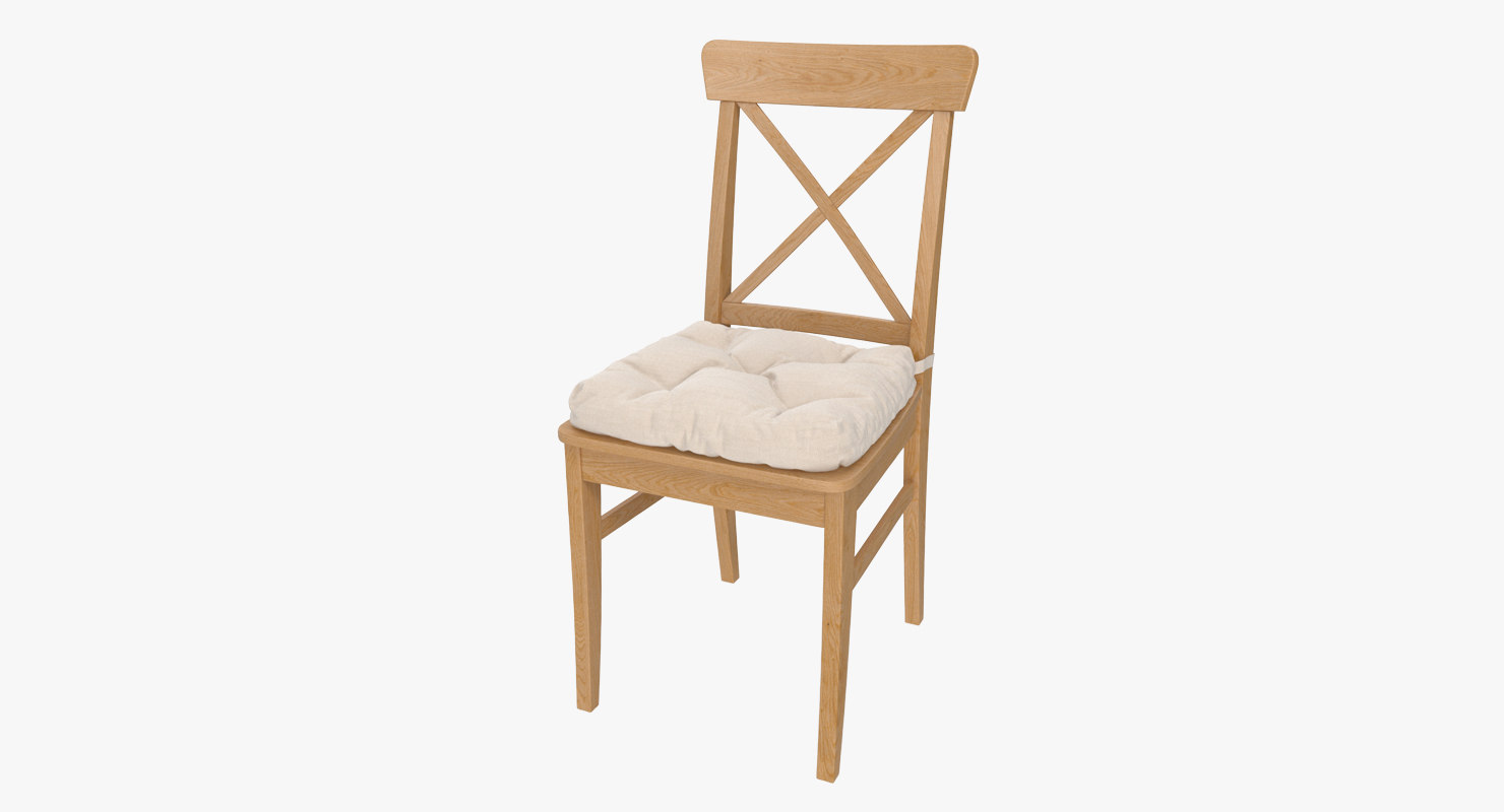 ingolf chair ikea 3D